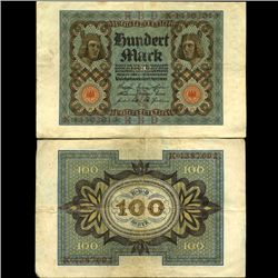 1920 Germany 100 Mark Note Hi Grade (COI-3895)