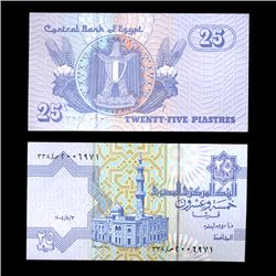 1990 Egypt 25 Piastres Crisp Uncirculated Note (COI-4568)