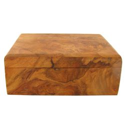 Handcrafted Afzelia Burl Box (DEC-541)