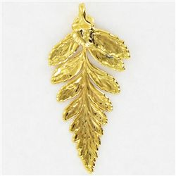 Gold Filled Fern Frond Pendant (JEW-3880)