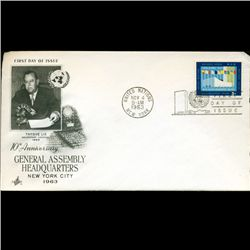 1963 UN First Day Postal Cover (STM-2430)