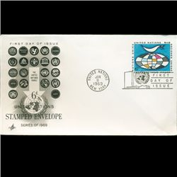 1969 UN First Day Postal Cover (STM-2768)