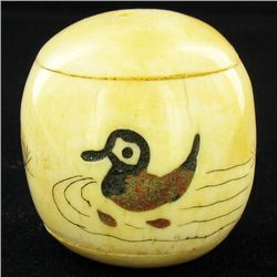 Handcarved Bone Duck Pendant (CLB-1068)