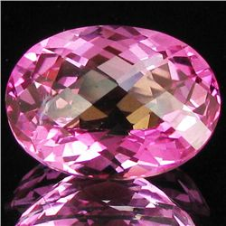 12.84ct Mystic Pure Pink Oval Topaz (GEM-28649)