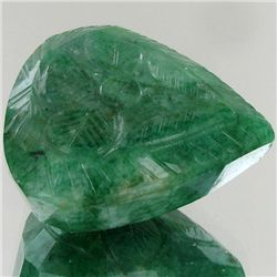 208.3ct Green  Natural S. American Emerald Carved (GEM-2043)