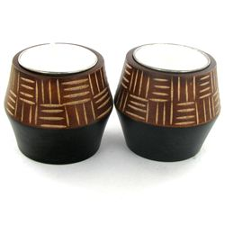 Mango Wood Candle Holder Pair (DEC-754)