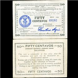 1944 WW2 Guerrilla Rebel Philippines 50c Note Mindanao (CUR-07191)