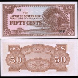 1942 WW2 Japan Occ. Malaysia 50c High Grade Note (CUR-07146)