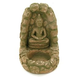 Handcrafted Cast Sandstone Buddha Candle Holder (CLB-1032)