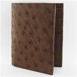Mens Upright Ostrich Hide Skin Wallet (ACT-254)