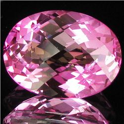 12.99ct Mystic Pure Pink Oval Topaz (GEM-28654)