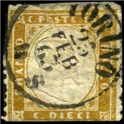 1862 Scarce Italy 10c Stamp (STM-1181)