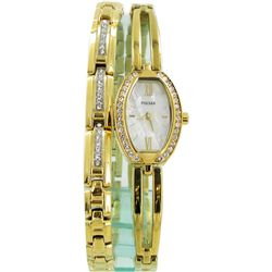 Collectible Pulsar NEW Crystal & MOP Watch & Bracelet (WAT-405)