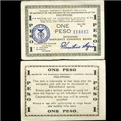 1944 WW2 Guerrilla Rebel Philippines 1P Note Mindinao (CUR-07209)