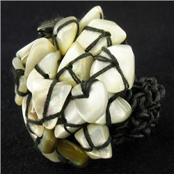 Crocheted Shell Ring (JEW-4319)