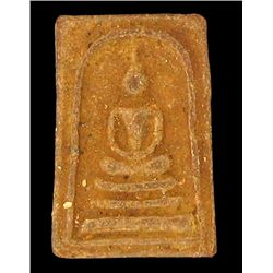 Vintage Thai Clay Amulet 1990s Buddha (ANT-1274)