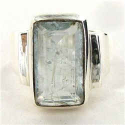 50.7twc Aquamarine Sterling Ring (JEW-2696)