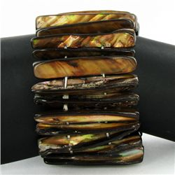 Stretch Shell/MOP Bracelet (JEW-4297)
