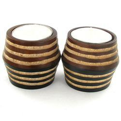 Mango Wood Candle Holder Pair (DEC-756)