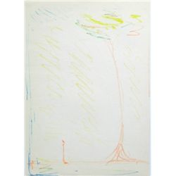 "Alberto Giacometti Original Lithograph ""L'arbre"" (The Tree)"