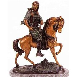 """Arab On Horse"" Bronze Sculpture - Barye"