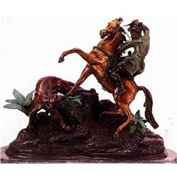 """Photo Finish"" Bronze Sculpture - Barye"