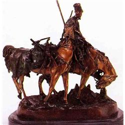 """Cossack Plunder"" Bronze Sculpture - Lanceray"