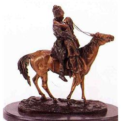 """Farewell"" Bronze Sculpture - Aahede"