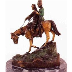 """Down The Steppes""  Bronze Sculpture  - Aube"
