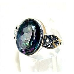 Silver and Mystic Topaz Ring