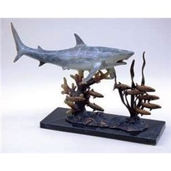 Feeding Shark Bronze Sculpture