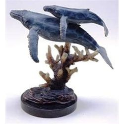 Humpback Whales Bronze Sculpture