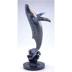 Humpback Whale Bronze Sculpture