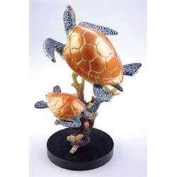Sea Turtles Bronze Sculpture