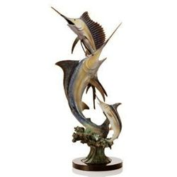 Marlin & Sailfish Bronze Sculpture
