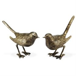 Bird Sculptures - Pair