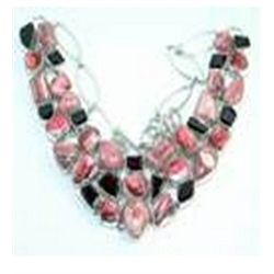 Rhodochrosite & Garnet Necklace