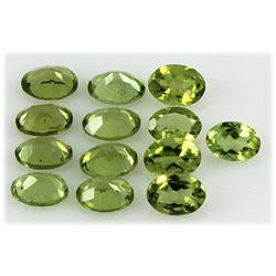 Peridot 11.01 ctw Loose Gemstone 7x5mm Oval Cut