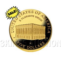 Gold $5 Commemorative 2001 Capital Visitor Proof