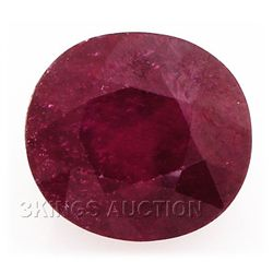 6.64ctw African Ruby Loose Gemstone