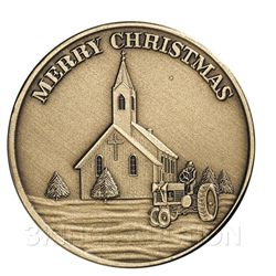 Christmas 2009 Bronze Round X-5 Merry Christmas (with o
