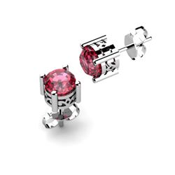 Garnet 2.00ctw Earring 14kt White Gold