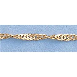 "Pure Gold 16"" 14k Singapore Gold-Yellow 1.5mm Chain"