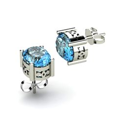 Topaz 2.20ctw Earring 14kt White Gold