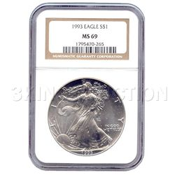 Certified Proof Silver Eagle PF69 1993