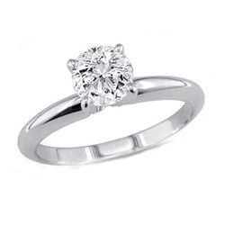 1.00 ct Round cut Diamond Solitaire Ring, I-J, SI2