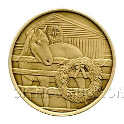 Christmas 2011 Bronze Round X-6 Horse (with ornament ho
