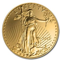 Uncirculated 1 oz. 2012 US American Gold Eagle
