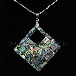 Natural 62.00ctw Mother Of Pearl Silver Pendant
