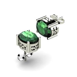 Emerald 1.70ctw Earring 14kt White Gold